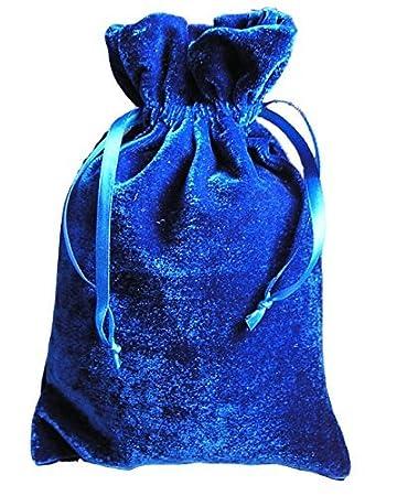 Amazon.com: Tarot/rune Dice Gift Bag Royal Blue Velvet Drawstring ...