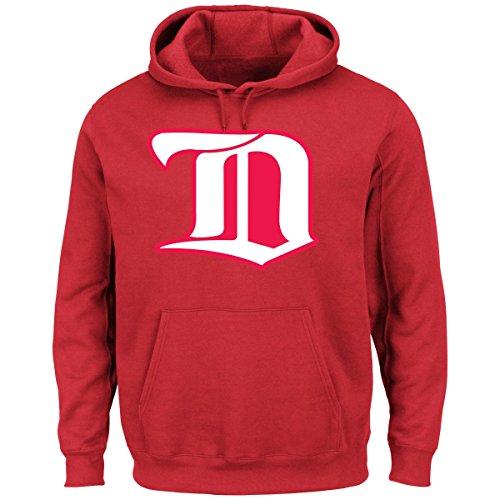 (Majestic Detroit Red Wings NHL Vintage Felt Tek Patch Hooded Sweatshirt)