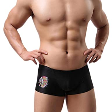 Voberry Men s Underwear Low Rise Sexy Trunk Boxer Brief Swimwear   Amazon.in  Clothing   Accessories adee8fc73