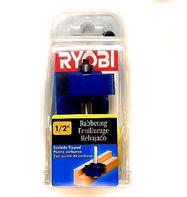 "Ryobi 1/2"" Carbide Rabbiting Router Bit, 1/4"" Shank by Ryobi"