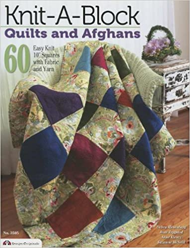 Knit A Block Quilts And Afghans 60 Easy Knit 10 Squares With