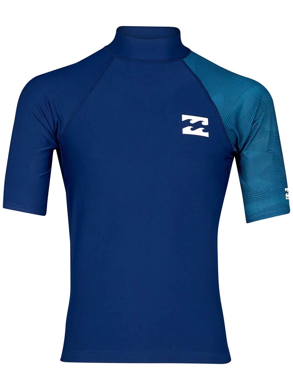 Billabong Unity manica corta Rash Vest in blu scuro