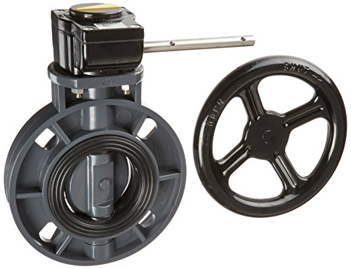 Hayward BYC1030E1GGB PVC Gear Operated BYC Series Butterfly Valves, 3-Inch, Gray