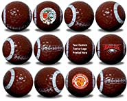 Football Golf Balls 12 Pack Upload Your Logo or Text