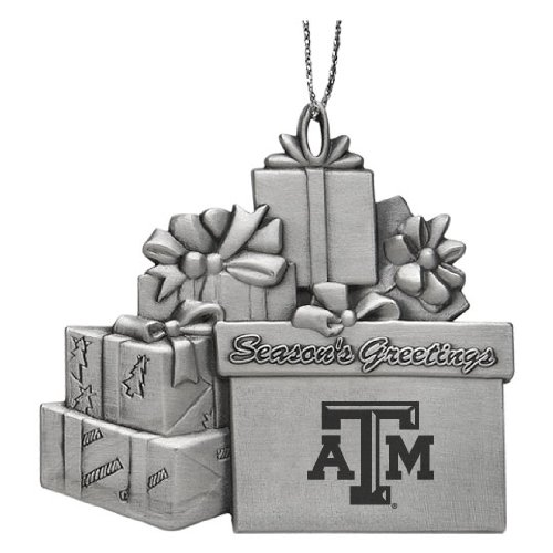 Pewter Gift Package Ornament Texas A/&M University