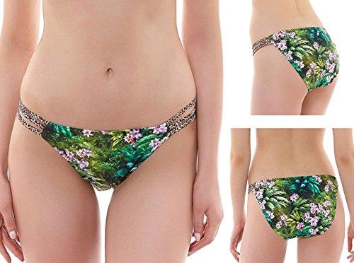 Freya Rumble Rio Rouleau Side Bikini Swim Bottom, L, Tropic