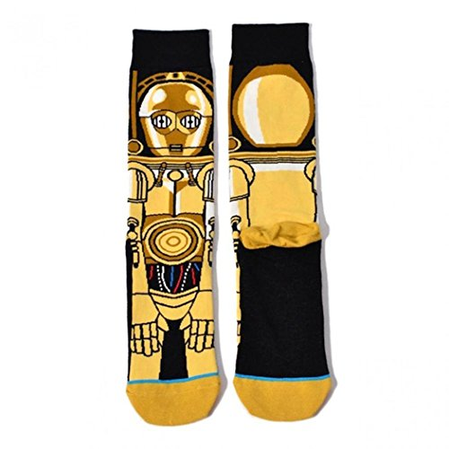 Ruior Men Casual Geometric Cartoon Pattern Cotton Long Socks Outdoor Sporting Casual Socks (Cartoon Casual Pattern)