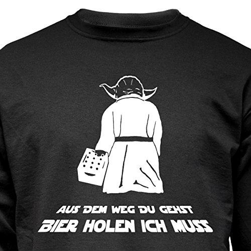 """Nukular Langarm T-Shirt """"Aus dem Weg Du gehst / Bier holen ich muss"""" im Yoda-Style, denn der braucht auch mal Nachschub..."""