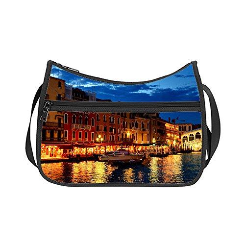 Shoulder Sides Hobo Design Custom Fabric J Handbag Britto Lightweight Oxford Twin Romero q8aaBnvtW