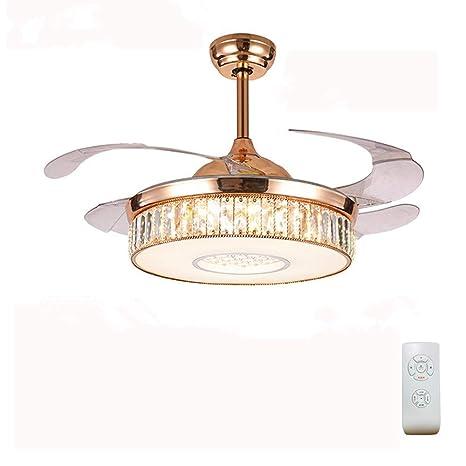 Luolax - Lámpara de techo con 4 aspas LED retráctiles, color ...