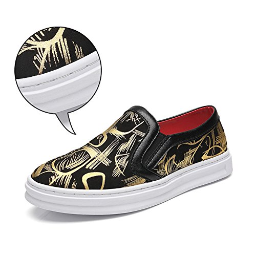 Men's Leather Leisure Tendon Shoes/Dress/Autumn/Big Feet/Outdoor/Fashion/Slip On/Black-brown Black shopping online for sale for sale low shipping hcm2Rmzk