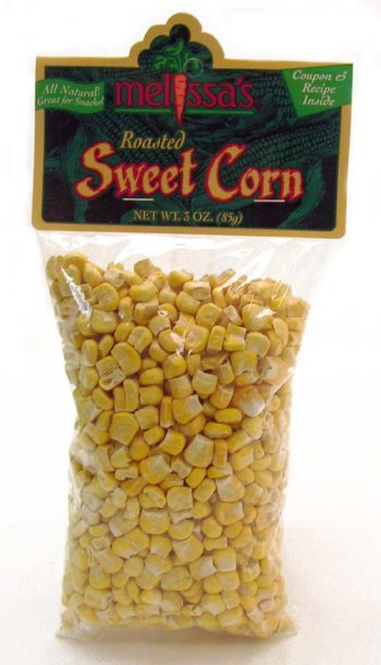 Melissa's Roasted Sweet Corn, 3 Bags (3 oz.)