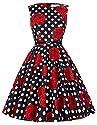 Pin Up Wiggle Retro Dress Sleeveless Knee-Length Size 1X F-35