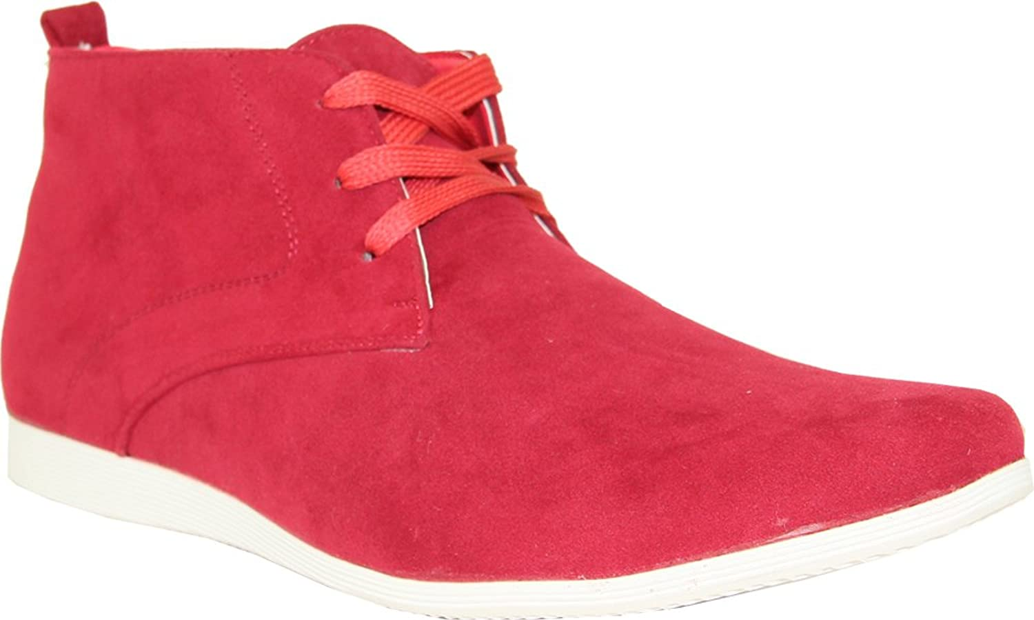 CORONADO Mens Casual Boots CODY9 Faux Suede Soft Comfort Desert Boots with an Almond Toe Red 9M  B00FNB8CT2