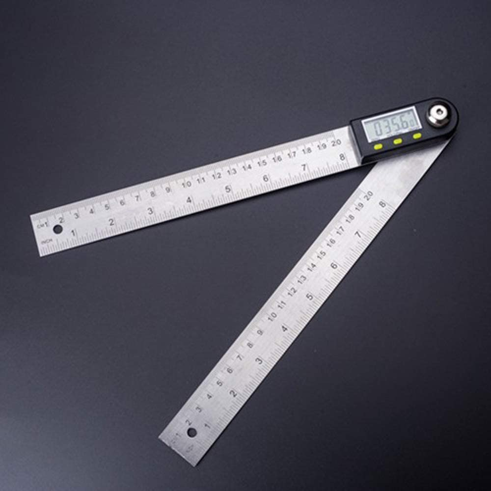 "Stainless Steel 300 mm //12/"" Digital Angle Ruler Electronic Meter Protractor"