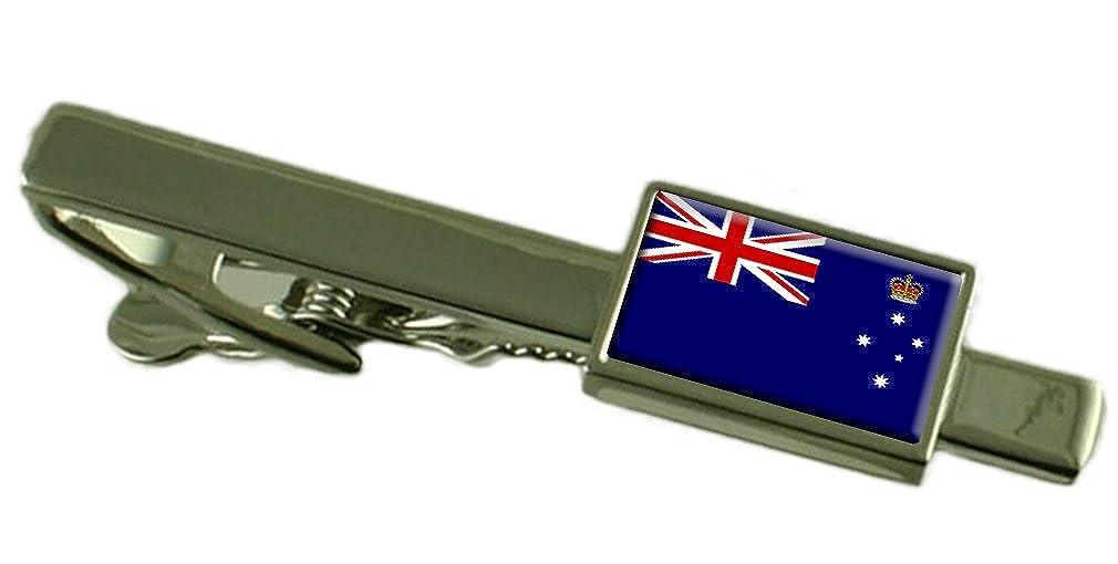 Keepsake Engraved Personalized Case Victoria Flag Tie Clip Bar 55mm