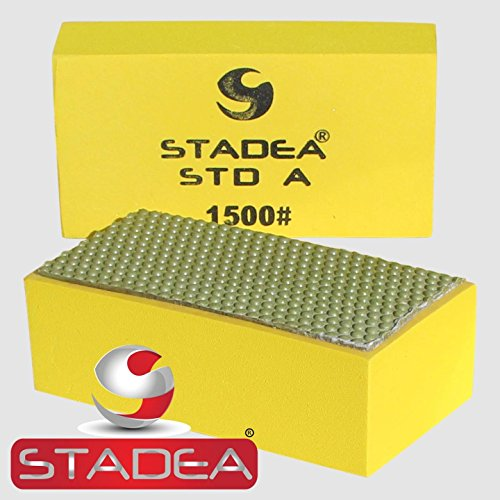 marble hand polishing pads by stadea : Grit 1500 (Granite, Concrete, Glass, Stone) 1 - Diamond Resin Pad Polishing