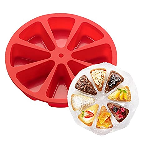 Astra Gourmet 8-triangle Cavity silicona parte Cake Mold ...