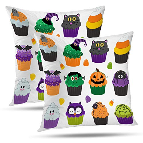 Batmerry Halloween Thanksgiving Decorative Pillow Covers 18x18 inch