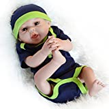 UCanaan 20'' Inch 50cm Look Like Real Baby Dolls Full Boday Soft Silicone Newborn Reborn Babies Alive Doll with 2 Sets Clothes-Brown Eyes Boy