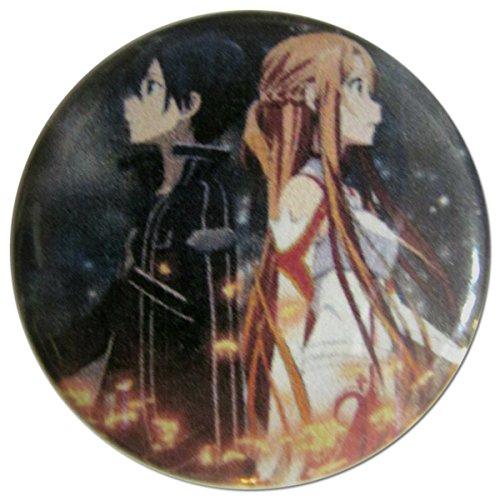 Kirito & Asuna in Battle (Sword Art Online) 1.25 Inch (Kirito And Asuna Costumes)