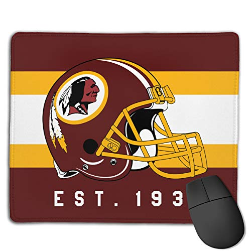 (Marrytiny Custom Colourful Mouse Pad Washington Redskins Football Team Natural Rubber Mousepad Stitched Edges - 7.08x8.6 Inches)