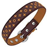 Lushpetz Designer Brown Waterproof Dog Collar Also in Pink Black White...