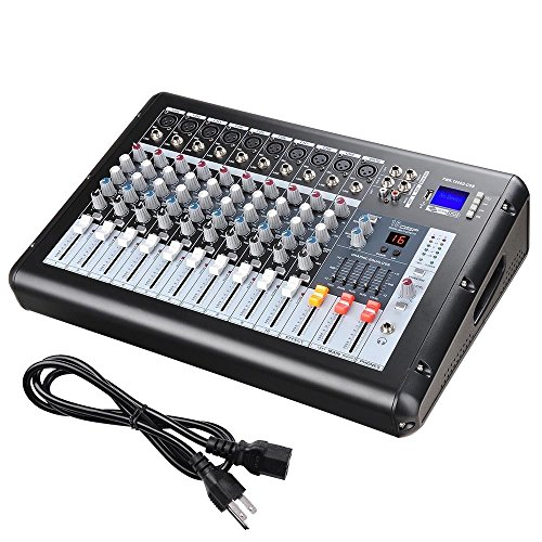 Professional 4000 Watt 10 Channel Mixer Power USB System Amplifier Amp 16DSP With Ebook