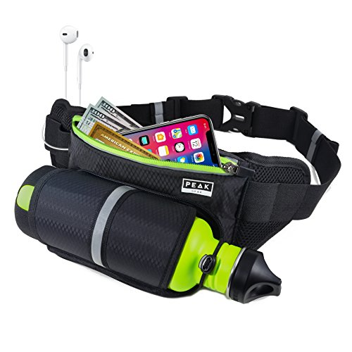 Running Belt with Water Bottle Holder - Use as Waist Pouc...
