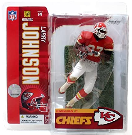 5c9d1b59f Image Unavailable. Image not available for. Color  McFarlane Toys 6 quot  NFL  Series 14 - Larry Johnson Red Jersey