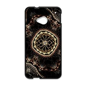 Happy Artistic fractal abstract design Cell Phone Case for HTC One M7