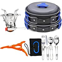 Bisgear 12-17Pcs Camping Cookware Stove Carabiner...