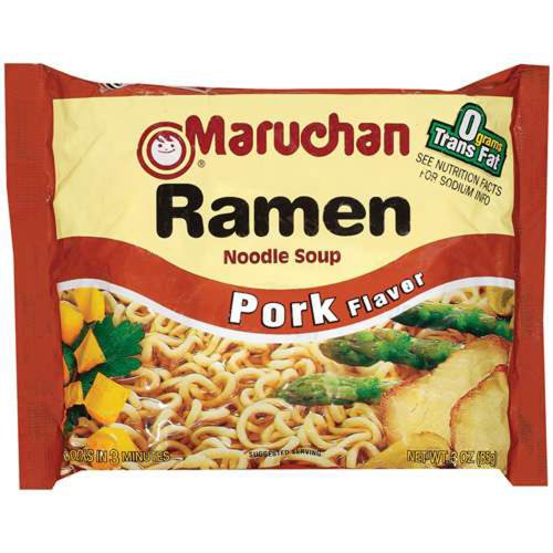 Maruchan PORK FLAVOR Ramen Noodle Soup 3oz (6 ()