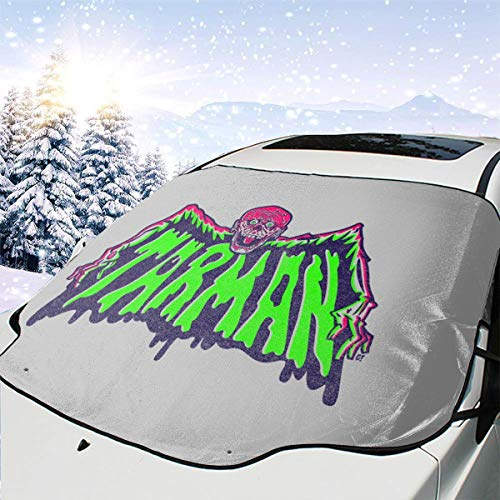 ENXIANGXIJ Tarman Return of The Living Dead Batshaped Car Windshield Snow Cover, Ice Removal Sun Shade, Fit for Universal Cars (58'' X47'')