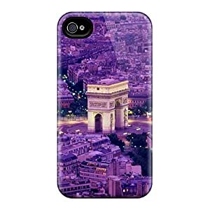 Flexible Tpu Back Case Cover For Iphone 4/4s - Paris