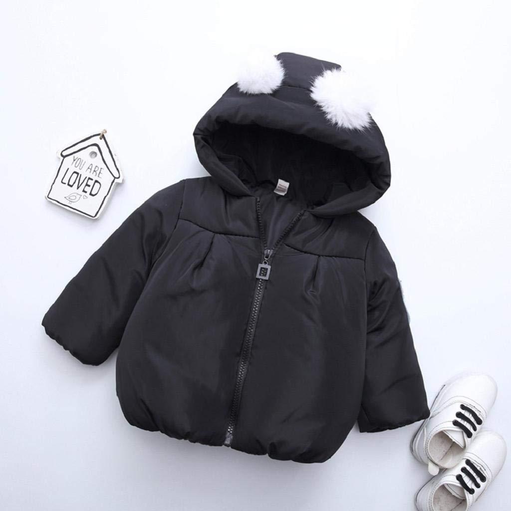 Toddler Baby Girl Boy Cartoon Panda Solid Warm Hooded Windproof Coat Tops REYO Unisex Baby Sweatshirt