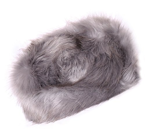KMystic Faux Fur Cossack Russian Style Winter Hat (Grey)