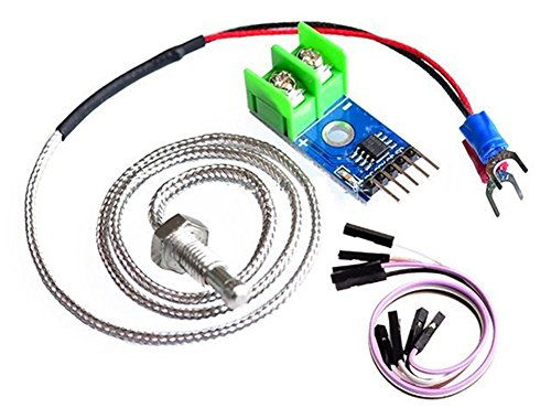 RoseSummer MAX6675 Module + K Type Thermocouple Sensor for Arduino (Module Thermocouple)