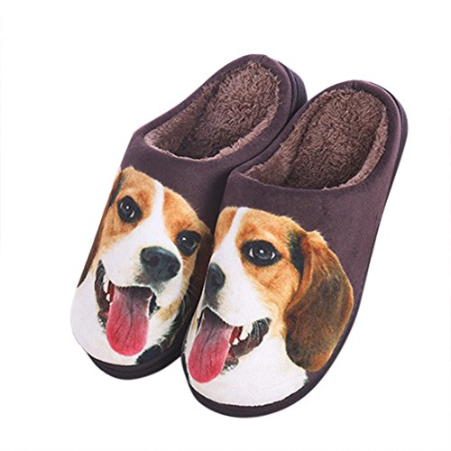 Matching Shoes For Couples (Agowoo Men's Women's Cute Animal Fuzzy Matching Couples Slippers Dog 42-43)