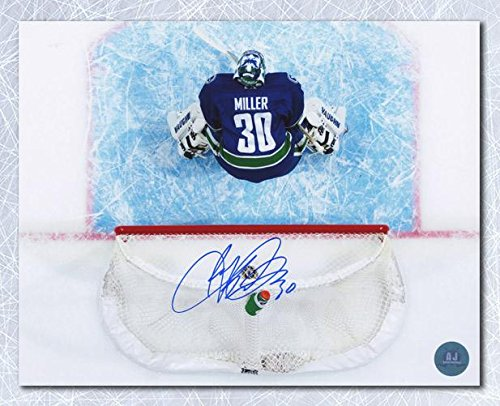 Ryan Miller Vancouver Canucks Autographed Overhead Goalie Crease 8x10 Photo - Autographed NHL Photos (Autographed Ryan Miller)