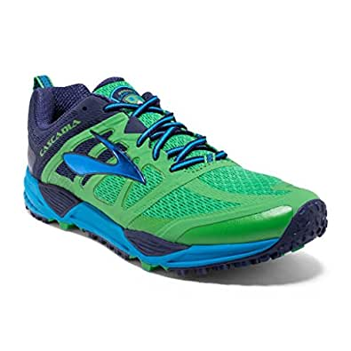 Brooks Mens Cascadia 11 Running Shoe Vibrant Green/Eclipse/Methyl 8