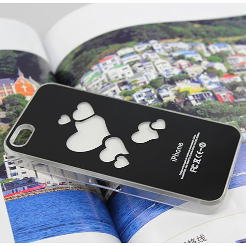 Flash Light LED Color Changing Luxury Fancy Case Cover for Apple iPhone 5 5G Loving Heart Shape