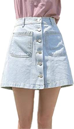 Falda para Mujer Slim Falda Fit Esencial Mini Un Solo Pecho ...