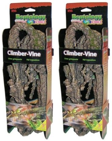 (2 Pack) Penn-Plax Flexible Climbing Vine, 5'