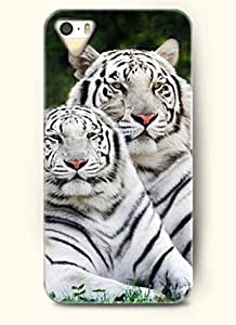 OOFIT Phone Case Design with Tiger Twins for Apple iPhone 5 5s