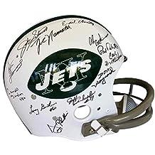 1969 New York Jets Team Signed FS TK Suspension Replica Helmet 24 Autos - Steiner Sports Certified - Autographed NFL Helmets