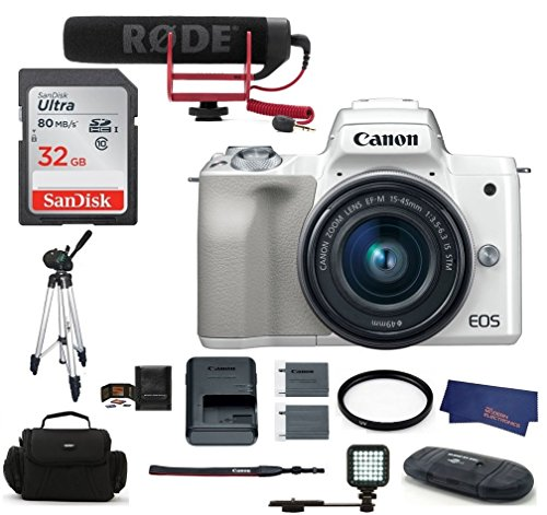 Canon EOS M50 Digital Camera (15-45mm Video Creator Kit + LED Light, White) Review