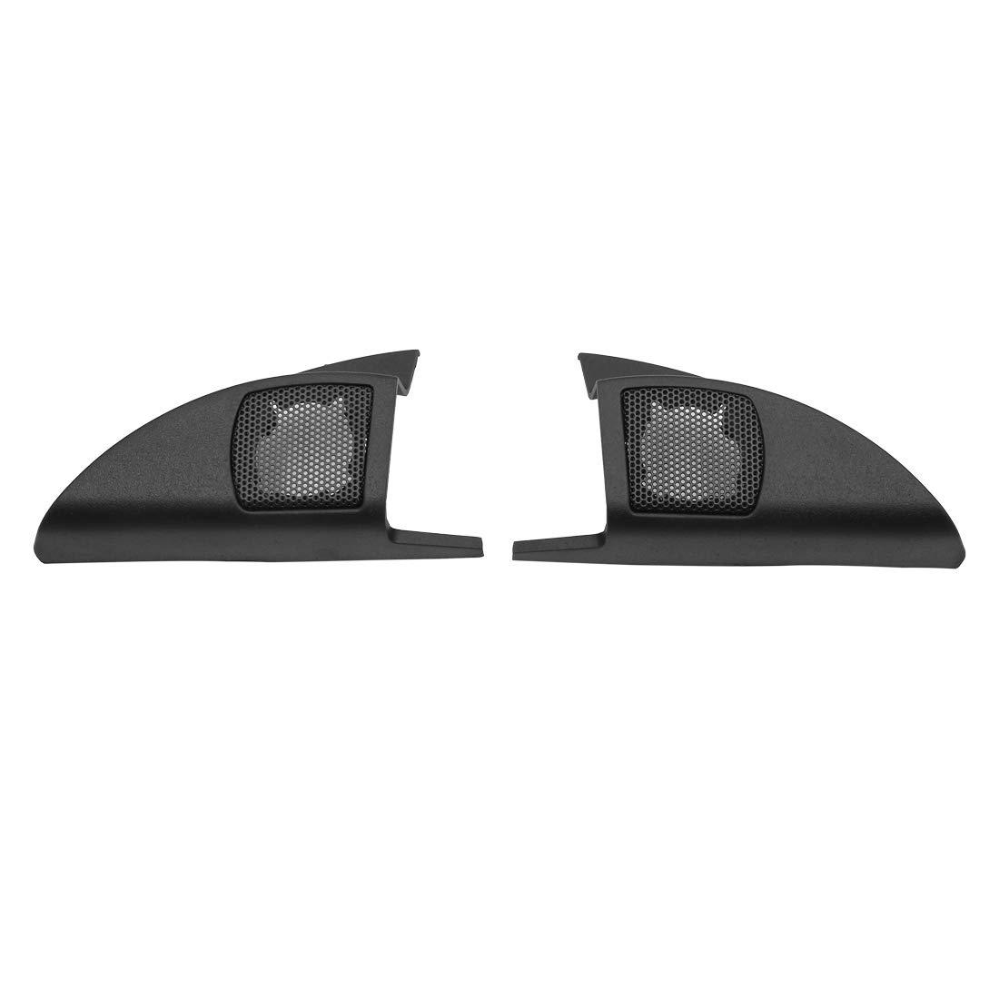 uxcell Pair Black Car Speaker Trim Cover Tweeter Protector for 2010 Honda City