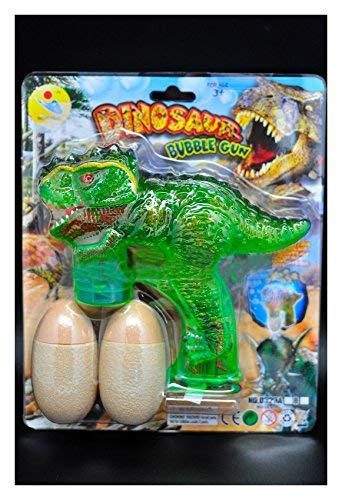 Dinosaur LED Bubble Gun Flashing Light Up Bubbles Blower Jurassic Dino Party from Unknown