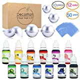 #6: Bath Bomb Mold Set with Soap Colorant, Shrink Wrap Bags - Skin Safe Food Grade Soap Dye for Bath Bomb Making Supplies Kit - Liquid Bath Bomb Dye for CP M&P Soap Coloring, Crafts - with Instructions